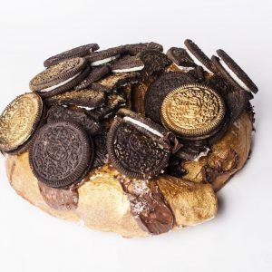Bargueño dorado de Oreo y Nutella